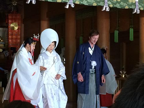 Wedding ceremony in Tokyo