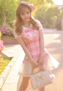 Kawaii style in pink