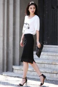 Sexy Japanese mote kei fashion style