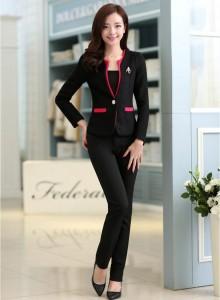 adult gal look iin black outfit