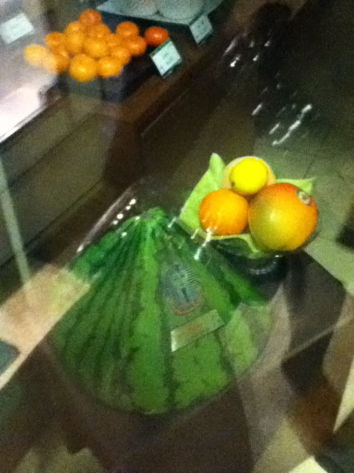 Pyramid shape watermelon