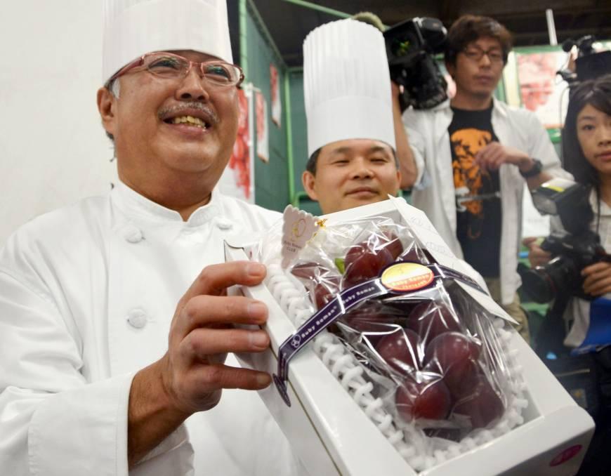Ruby romans grape from Ishikawa Prefecture